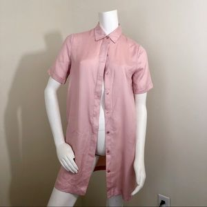 Charles Henry pink button down shirt size s